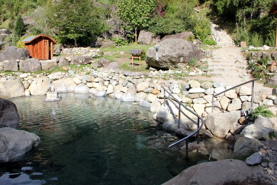 Hot Springs at Los Pozones in Pucon Chile
