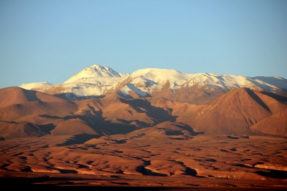 Andes mountain range from San Pedro de Atacama Chile