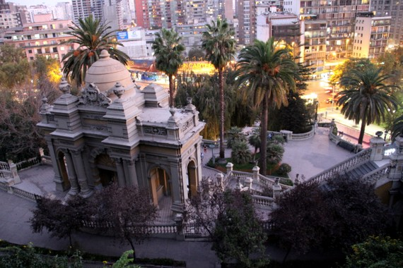 Santa Lucia Hill park, Santiago, Chile