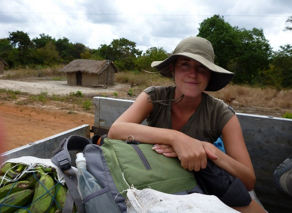 Hitchhiking in Mozambique via truck