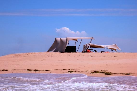 sandbar island in Quirmbas archipelago