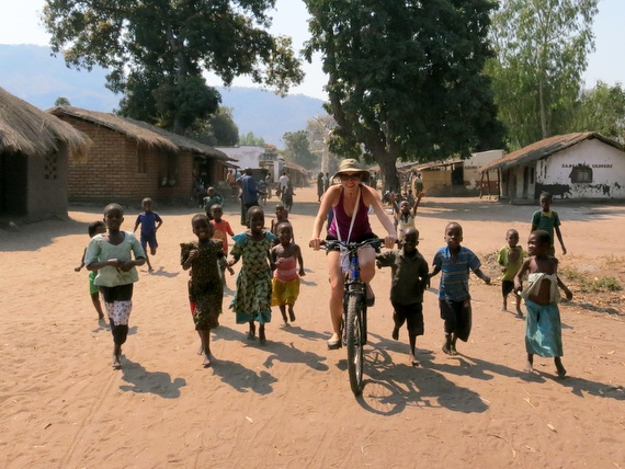 Bicycle in African village in Malawi