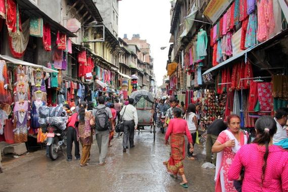 Busy streets of Kathmandu, Nepal