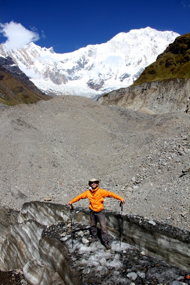 annapurna base camp glacier