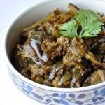 Dhaniya Baingan (Brinjals cooked in a Cilantro Paste)