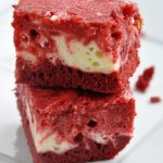 Red Velvet Swirl Cheesecake Brownies