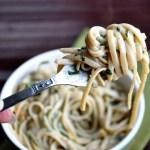 Healthier Spinach Linguine Alfredo… never say never!