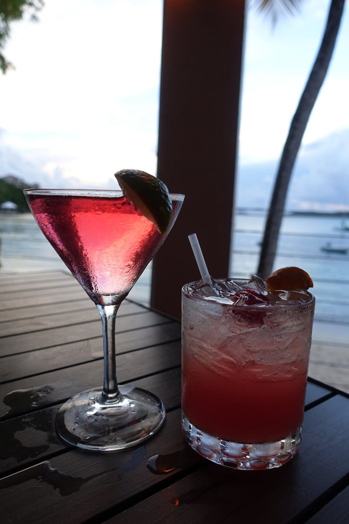 Caribbean Cosmo, Pure Passion - Cocktails - Sunset Grille, Secret Harbour Beach Resort