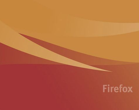 fondo dorado naranja firefox