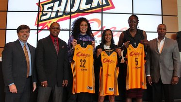The Tulsa Shock's 2015 draft picks. Photo: Tulsa Shock.