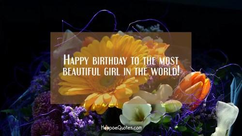 Medium Of Happy Birthday Beautiful Girl