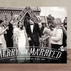 Merry and Married Newlywed Holiday Card