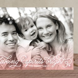 Ombre Sparkle Holiday Card