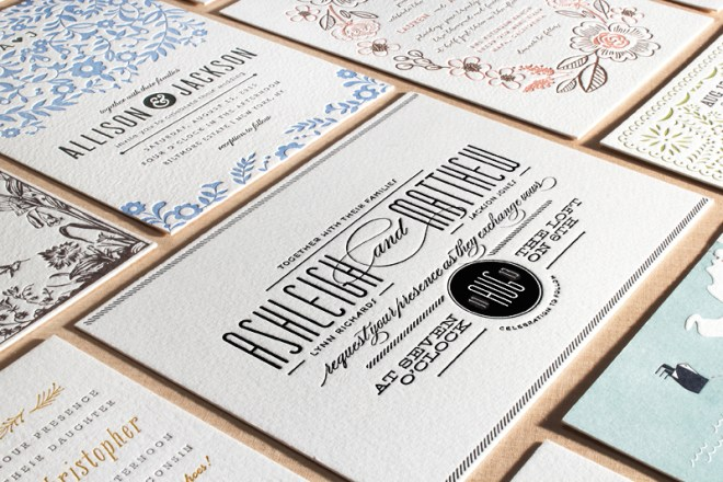 minted letterpress