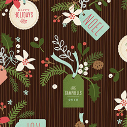 Winter Pines Wrapping Paper