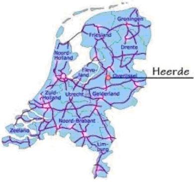 Kaart nederland met Heerde