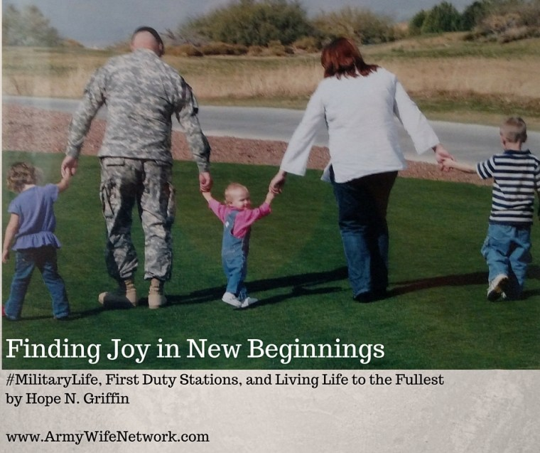 Finding joy in first duty station new beginnings military life