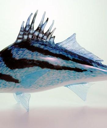 Blue fin tuna hopko art glass for Blue fin fish