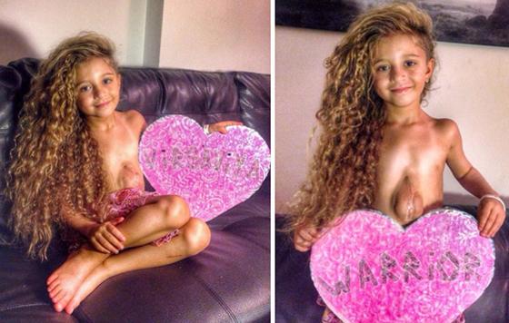 Resultado de imagen de niña corazon fuera