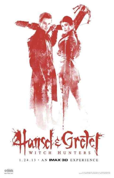 Hansel and Gretel Witch Hunters Imax 3D movie poster