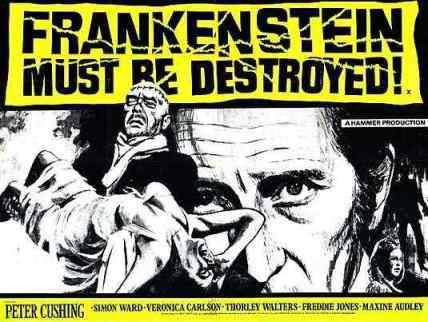 Frankenstein Must Be Destroyed movie poster 2
