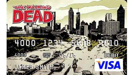 The Walking Dead visa card