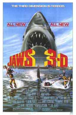 Jaws 3D movie poster