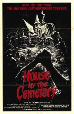 House By The Cemetery movie poster