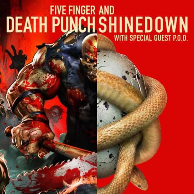 IN THIS MOMENT Five Finger Death Punch Tour Date 2015 AND4 Tee T ...