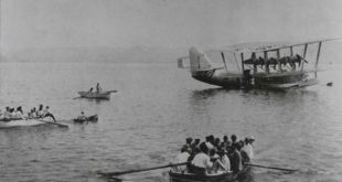 מטוס-אמפיבי-של-בריטיש-איירוויס-נוחת-בכנרת