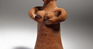 צלמית חרס דמויית אישה, לכיש, תקופת ברזל ב, המאה ה- 8 לפנהס. - רשות העתיקות