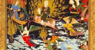 ציור פרסי מתחילת המאה ה-16, המראה את עלייתו של מוחמד השמיימה