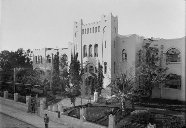 מבנה גימנסיה הרצליה הישן, 1936 בערך
