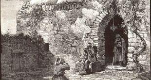 קבר יונה הנביא בגת חפר (כיום משהד), איור מספרו של ויקטור גרן משנות ה-80 של המאה ה-19 צילום: Gallica Digital Library