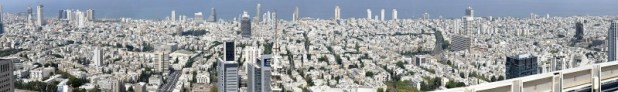 גוש דן - תל אביב, כפי שנראה מגג מגדל עזריאלי העגול צילום:Ynhockey