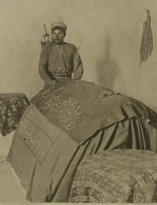 המצבה במבנה קבר יוסף, לפני 1917