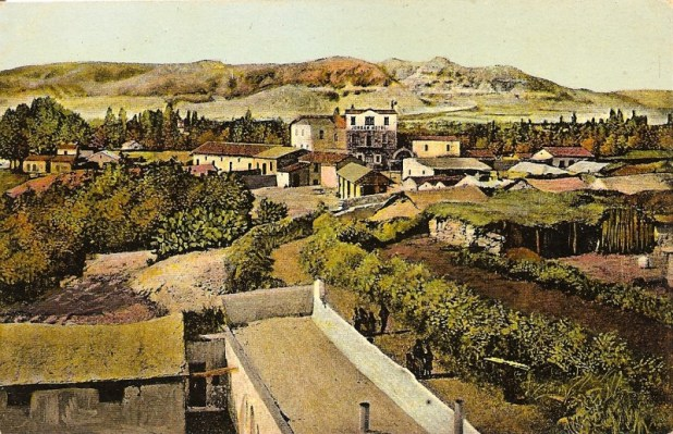Postcard image depicting Jericho in the late 19th or early 20th century