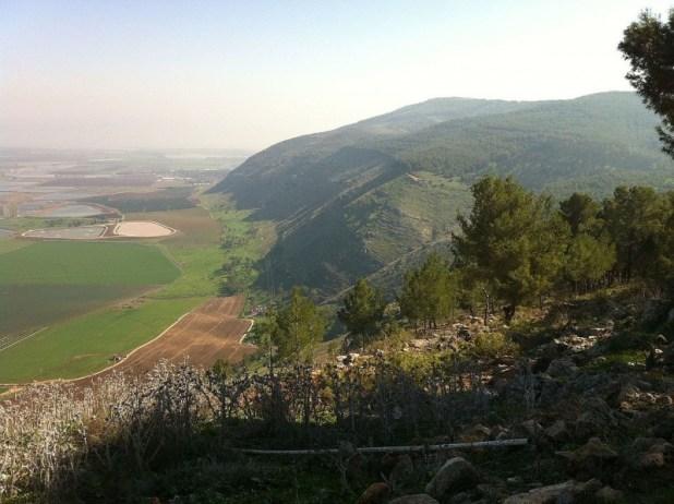 מבט מזרחה מהר שאול
