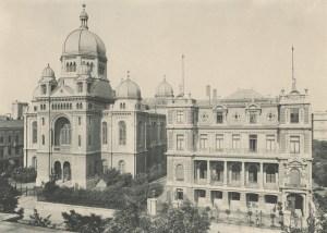 Reformed Great Synagogue in Łódź , burnt by the Germans in 1939 :Photographer Bronisław Wilkoszewski