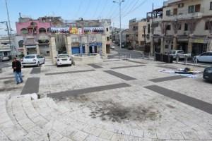 כיכר העיר דיר חנא לקראת הבחירות