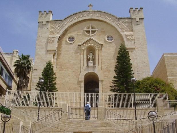 """מנזר סן ונסן דה פול בירושלים מדרחוב ממילא צילום: ד""""ר אבישי טייכר"""