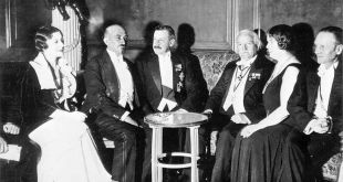 Vera Weizmann, Chaim Weizmann, Herbert Samuel, Lloyd George, Ethel Snowden, Philip Snowden