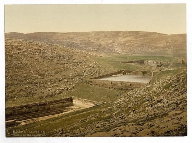 בריכות שלמה בשנת 1890 לערך