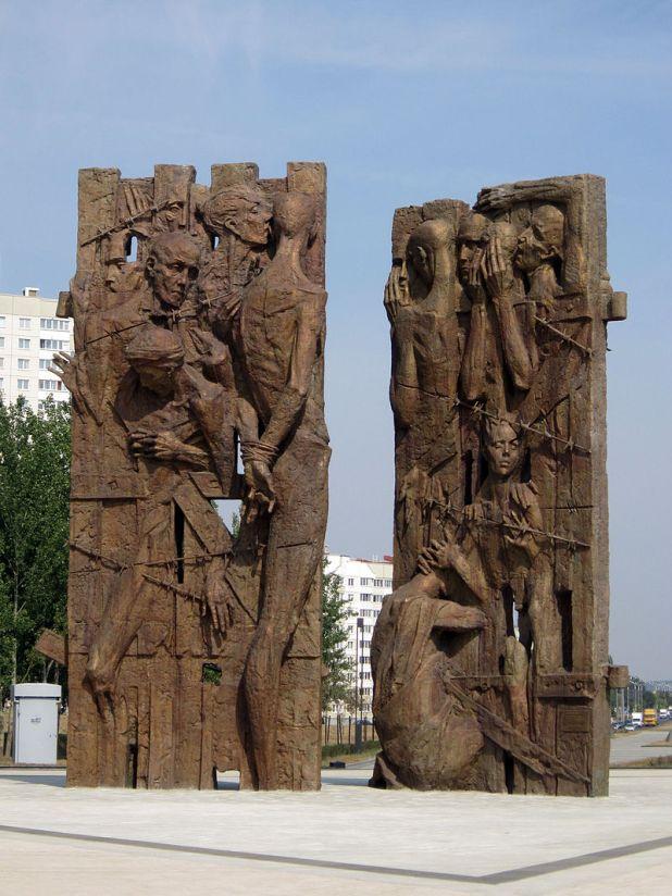 Trascianec (or Maly Trascianec or Maly Trostenets) memorial complex in Minsk, Belarus צילום:Homoatrox
