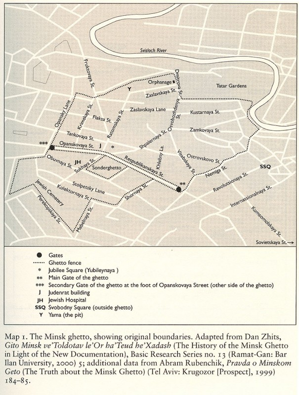 Map of the Minsk Ghetto by professor Barbara Epstein