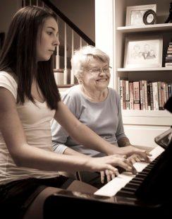 at piano youth and age
