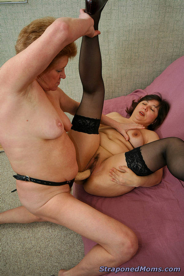 Lesbian First Anal Strapon