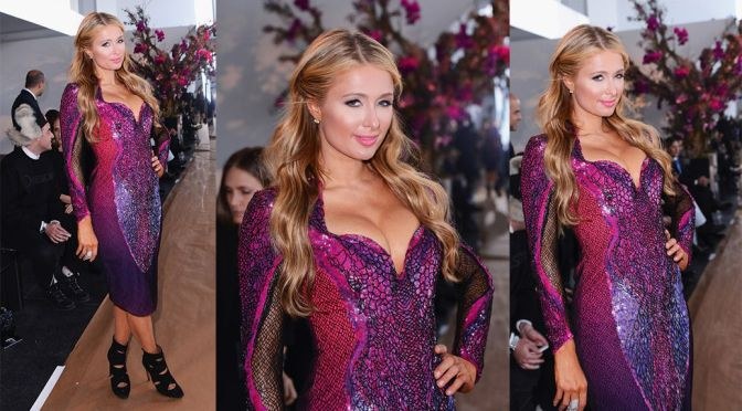 Paris Hilton – Gabriela Cadena Fashion Show in New York