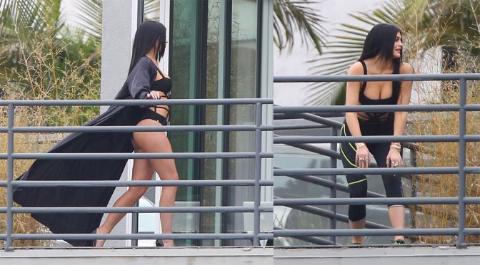 Kylie Jenner – Photoshoot Candids in Hollywood