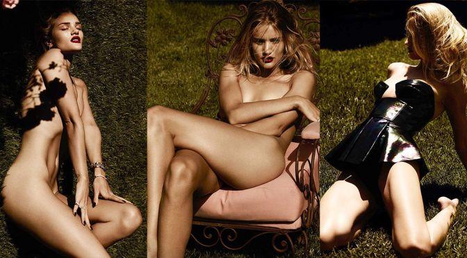 Rosie Huntington-Whiteley – Violet Grey Topless Photoshoot